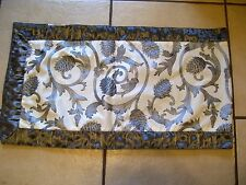 GORGEOUS SILVER & CREAM GATHERED SHEER TRIM CHRISTMAS TABLE RUNNER  DECORATION