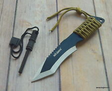 OUTLANDER TACTICAL FIRE STARTER KNIFE WITH MAGNESIUM ALLOY FLINT NYLON SHEATH