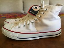 VINTAGE CONVERSE CHUCK TAYLOR MADE IN U.S.A ALL STAR HIGH TOP OPTICAL WHITE 10.5