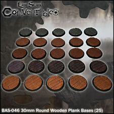 LAST STAND CONVERTIBLES BITS - 25x 30mm ROUND WOODEN PLANK BASES
