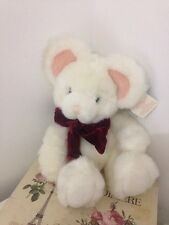 Russ Berrie Mouse 'Tic Toc' Soft Cuddly Toy Medium With Tags