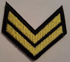 ARMY Air Force Corporal chevrons Brand New Iron on Sew on embroided patch