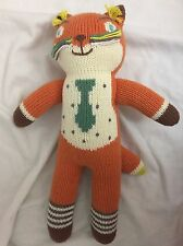 "Blabla Kids Socks the Fox Mini Handmade Knit Doll Plush Toy 13"" Orange"