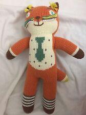"""Blabla Kids Socks the Fox Mini Handmade Knit Doll Plush Toy 13"""" Orange"""