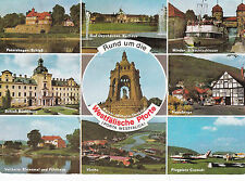 Postcard Westphalia various views Germany used