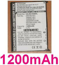 Batterie 1200mAh type 35H00063-00M HSTNN-H09C-WL PE2018AS Pour HP iPAQ rx1950
