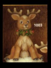 Ceramic Bisque Sitting Reindeer, U Paint