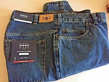 Harbor Bay Loose-Fit Blue Denim Jeans Casual Male XL 44x30