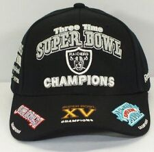 OAKLAND RAIDERS NFL 3 THREE TIME X SUPER BOWL CHAMPIONS  CAP NEW BY REEBOK