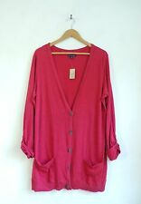 NWT American Eagle Sweater Button Coral Pink Slouchy Cotton Cardigan Sweater XL