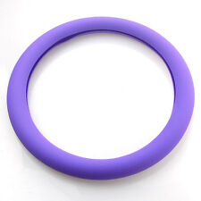 Purple Leather Texture Soft Silicone Auto Car Steering Wheel Cover Shell