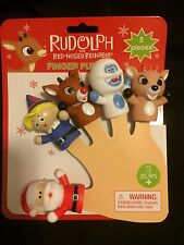 "RUDOLPH THE RED NOSED REINDEER  2"" FINGER PUPPET SET NWT RANKIN-BASS RUDOLPH"