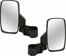 Yamaha Rhino UTV Break-Away Left & Right SIDE MIRROR Shatter-Proof SET Black NEW
