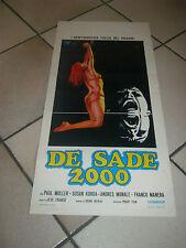 LOCANDINA DE SADE 2000 JESS FRANCO PAUL MULLER SUSAN KORDA