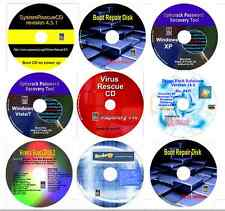Computer Repair, Data Recovery, Password Restore, Drivers & Virus Recover 9 disk