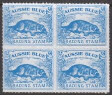 Platypus design AUSSIE BLUE TRADING STAMPS - Block of 4 - Great Value