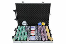 Tournament Poker Chips - 1000 Piece Numbered Poker Set in High Numbers
