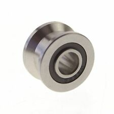 8*22.5*14.5mm Flat  Groove width 10mm Guide Pulley Sealed Rail Ball Bearing