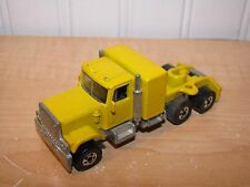 Hot Wheels Steering Rigs GMC Semi Tractor Trailer Truck Yellow