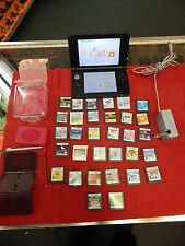 BLUE NINTENDO 3DS XL HANDHELD GAME CONSOLE SYSTEM BUNDLE 32  GAMES + LOT