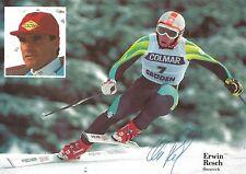 Autogramm Erwin Resch Ski alpine gewann 3 Weltcup Rennen 80er Jahre Österreich