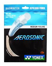 Genuine Yonex Aerosonic  BG AS Badminton String - 10m - White - Free UK P&P