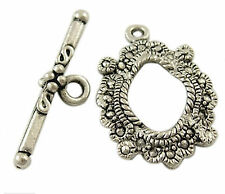 10 Antique Silver Toggle Clasp for Necklace Bracelets Jewellery Making