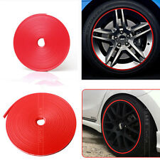8M Tire Guard Protector Line Glue Rubber Moulding for Auto Car Wheel Hub Red