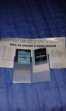 Korg Doppia Card WSC-2 + WPC-2  Drums & Percussion   x Korg Wavestation