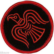 """Odinic Raven Embroidered Patch 7cm Dia (2 3/4"""" Dia)"""