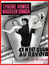 ▬►1955 Synopsis Ce n'est qu'un au revoir (The Long gray line) Tyrone Power
