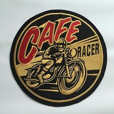 Iron On/ Sew On Embroidered Patch Badge Cafe Racer Skull Large