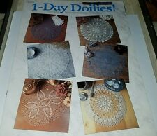 S031 THE CROCHET CATALOG 1988, 1-DAY DOILIES ~ 6 DESIGNS