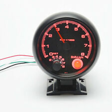 1pc 3.75'' Car Tacho Rev Counter Gauge Tachometer W/ Red LED RPM Light Hot