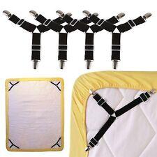 4X Bettlaken Spanner Bügelbrett Bezug Betttuch Bettlakenspanner Matratze Clips