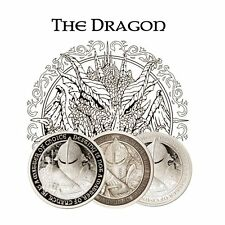Destiny Knight - The Dragon Silver 3 Coin Collectors Set - BU, Proof & Antiqued