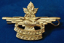 Canada Royal Canadian Air Cadets brass brass cap badge w lugs and pin