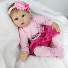 22inch Smile Reborn Baby Doll Lifelike Soft Vinyl Real Life Newborn Baby Doll