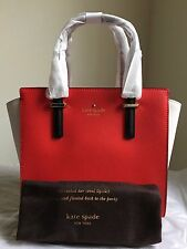NWT Kate Spade Cedar Street Small Hayden Purse in Cherry liqueur/ballerina/black