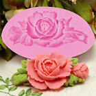 Rose Flower Silicone Cake Mold Fondant Chocolate Decorating Baking Mould DIY