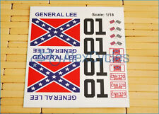 GENERAL LEE DUKE OF HAZZARD 1/18 Scale Decals Stickers Cut Kit RC Car Tamiya HPI