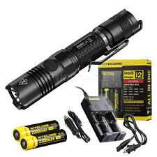 NiteCore P12GT 1000 Lumen Flashlight w/ 2 x 18650 Batt., i2 Charger, Car Charger