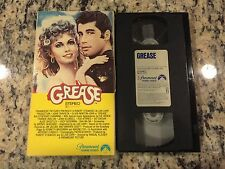 GREASE RARE ORIGINAL 1ST RELEASE GATEFOLD VHS 1978 JOHN TRAVOLTA MUSICAL CLASSIC