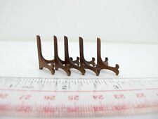 5 Pieces Of Miniature Wooden Plate Holders For Doll House [Finished in walnut]
