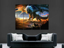 DRAGON FANTASY  GIANT WALL POSTER ART PICTURE PRINT LARGE