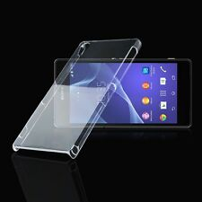 Full Transparent Clear Hard Back Fitted Case Cover Skin Fr Sony Xperia Z2 D6503