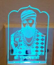LED Guru Nanak Night Light Lamp Colour Changing soft light Religious Sikh Gift