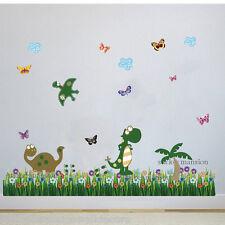 Dinosaur Wand Sticker Tiere Dschungel Schmetterling Kinderzimmer Baby