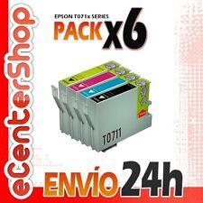 6 Cartuchos T0711 T0712 T0713 T0714 NON-OEM Epson Stylus SX218 24H