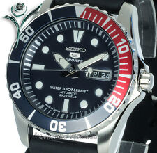NEW SEIKO AUTOMATIC RUBBER 100m SCUBA DIVERS SNZF15J2